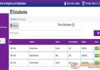 Sistema de Gestión de Registros de Estudiantes