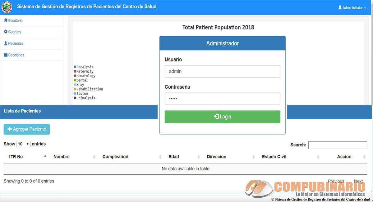 Sistema de Gestión de Registros de Pacientes del Centro de Salud