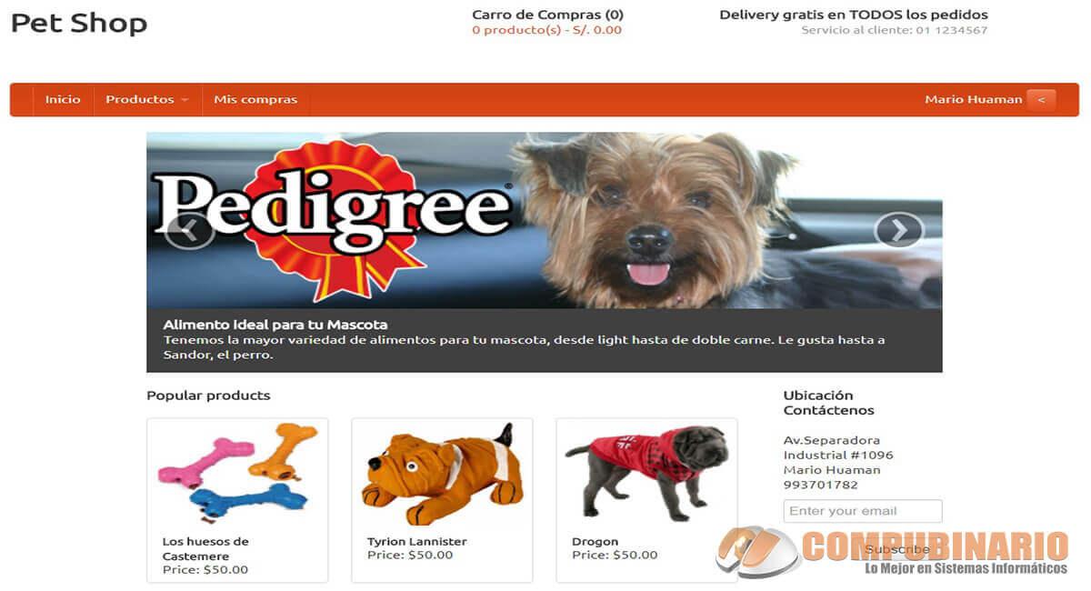 Sistema de Tienda para Mascotas