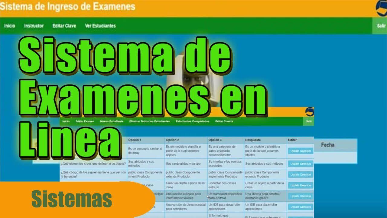 sistema de examenes en linea