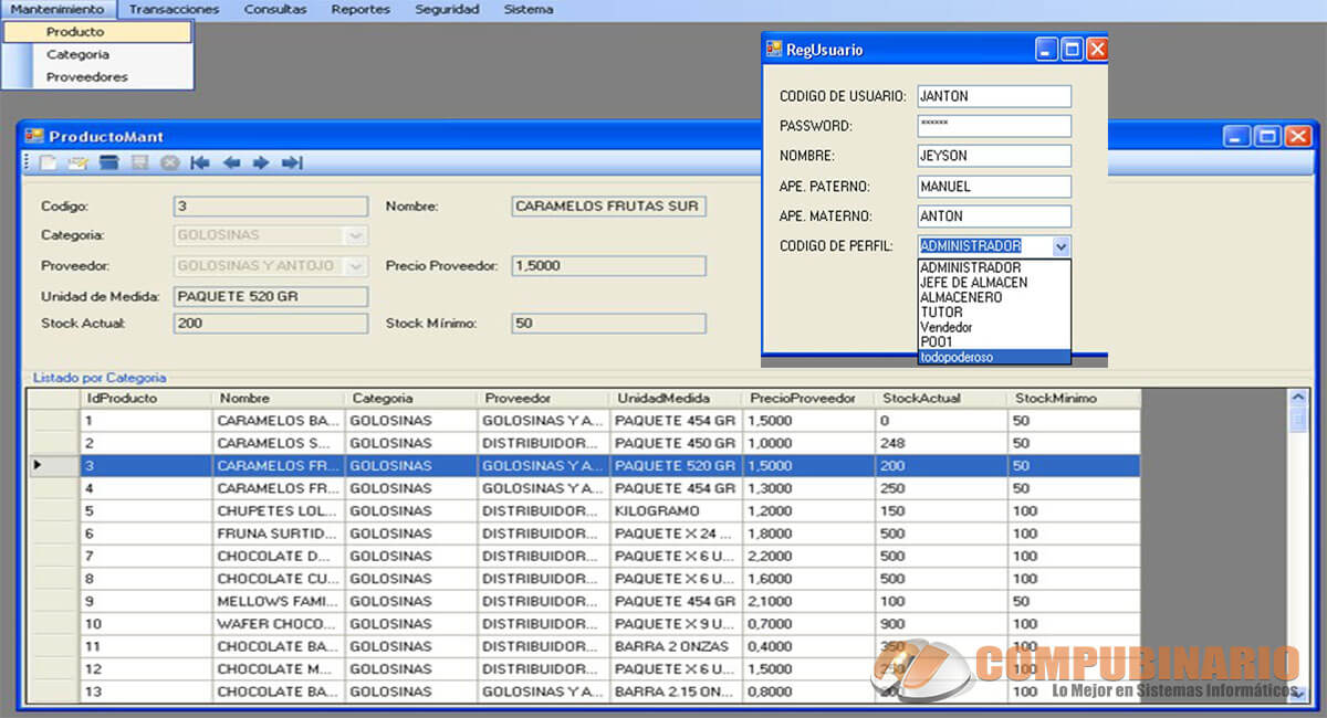Sistema de Control y Gestion de Inventarios