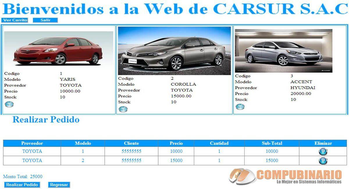 Sistema Web de Pedidos de Automoviles