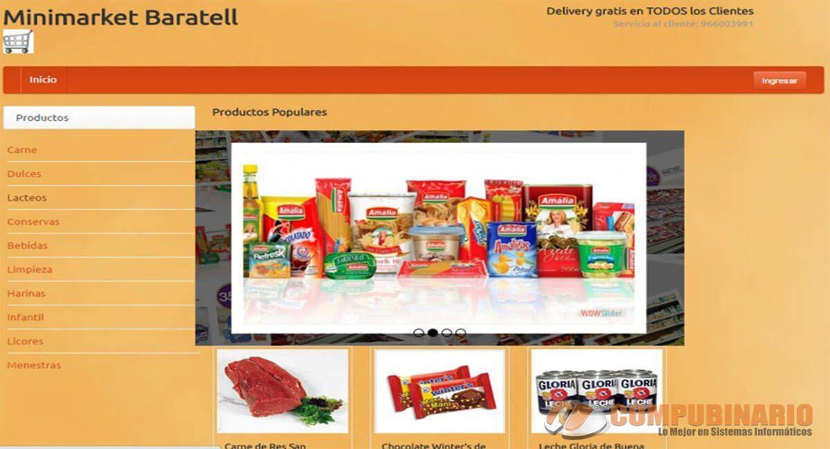 Sistema de Tienda On Line de Minimarket