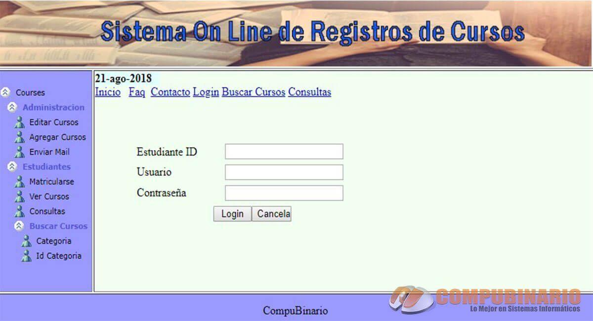 Sistema On Line de Registros de Cursos