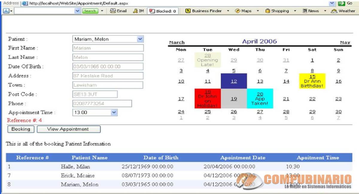 Sistema Web de Citas para Pacientes