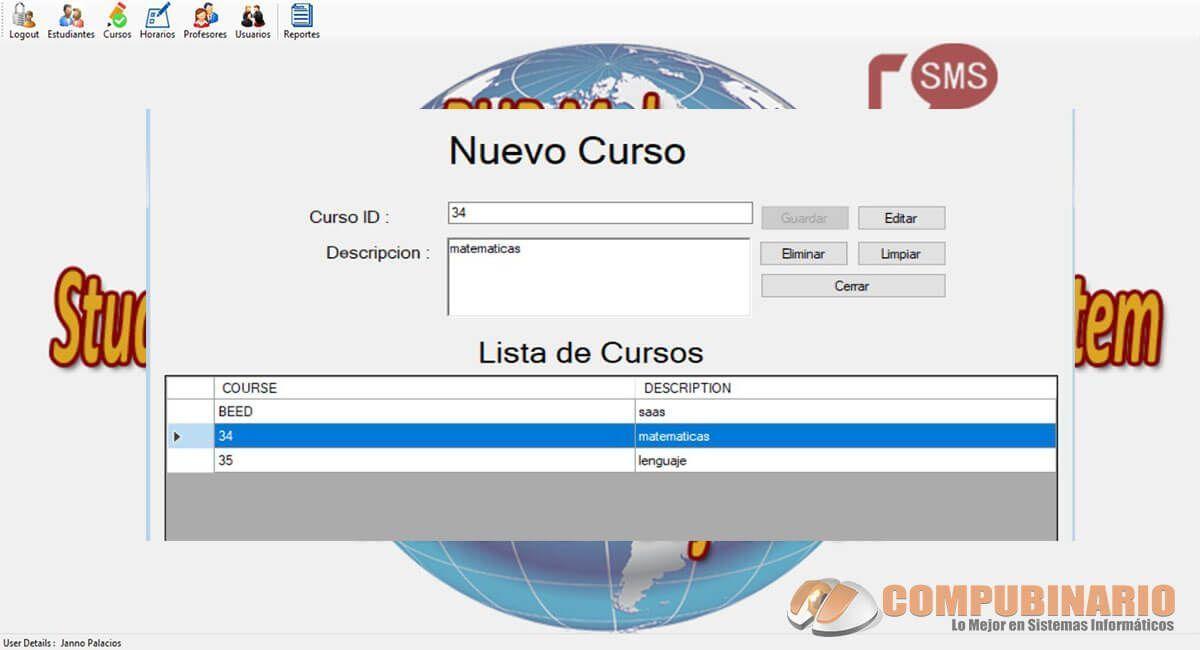 Sistema de Registros Inidivuales de Estudiantes