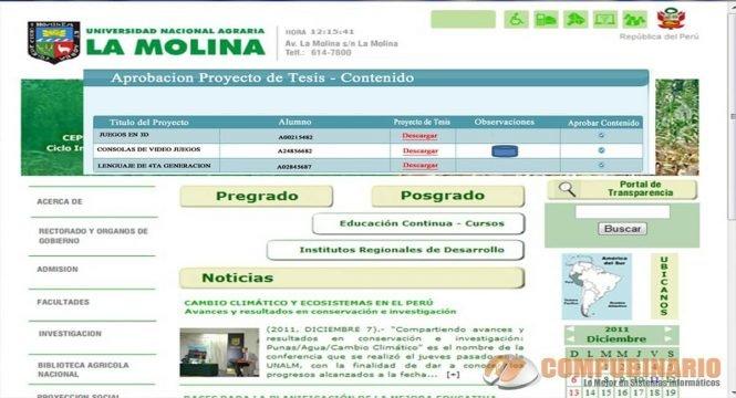 SISTEMA WEB PARA LA INSCRIPCIÓN DE UN PROYECTO DE TESIS