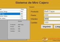 Sistema de Mini Cajero para Principiantes
