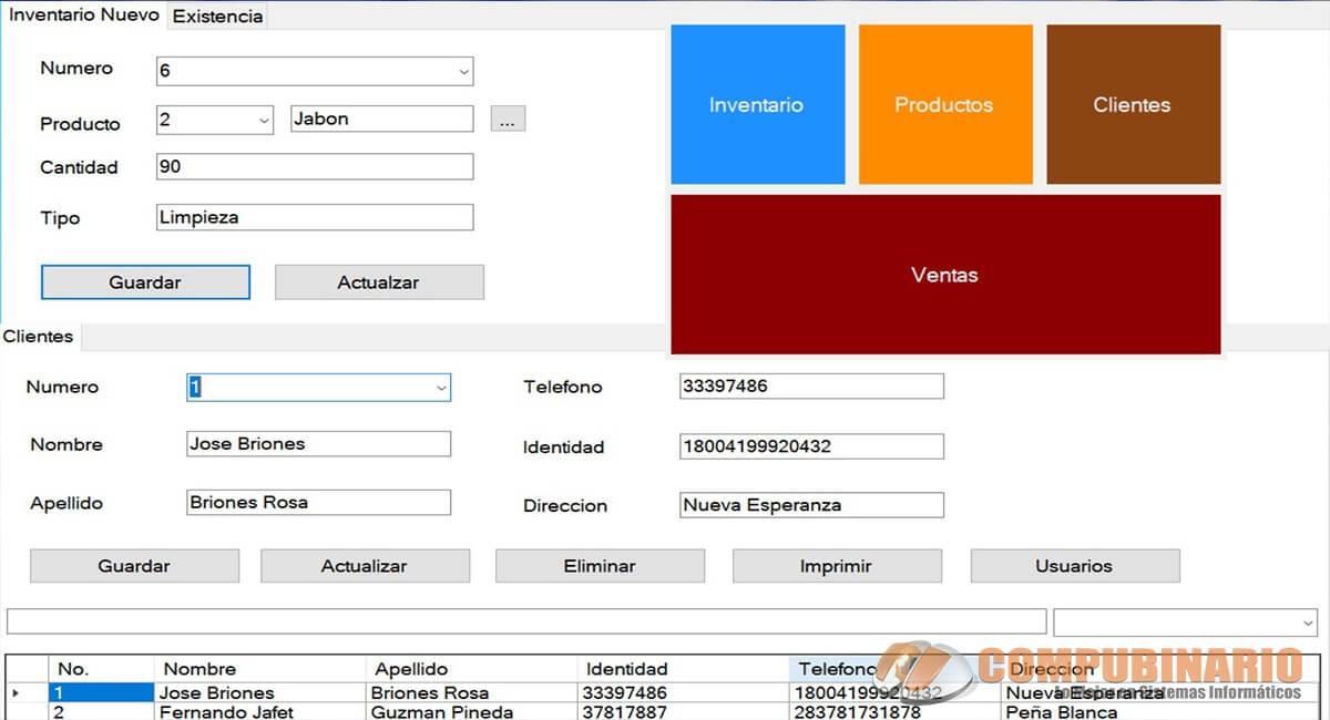 Sistema de Ventas Inventario y Compras