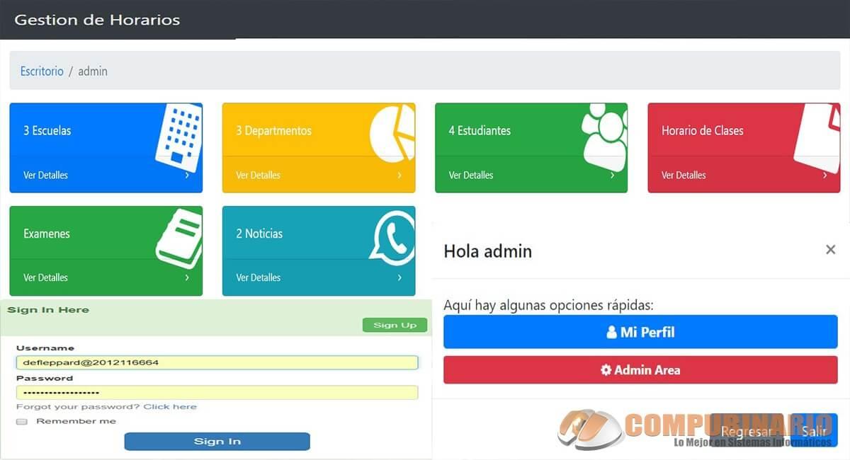 Sistema Web de Gestion de Horarios Estudiantiles