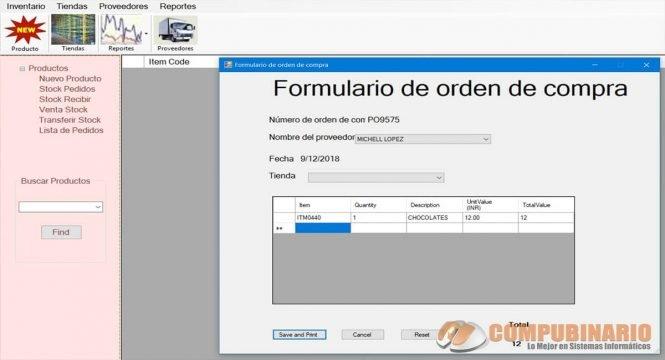 Sistema de Gestión de Pedidos e Inventarios