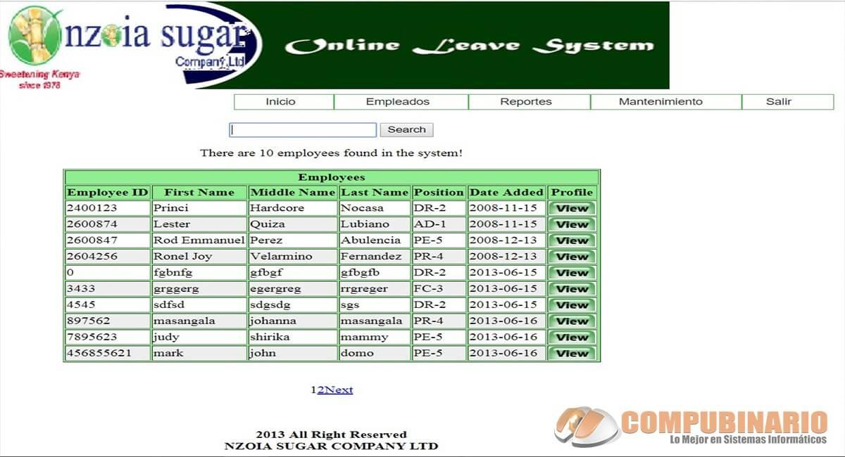 Sistema de permisos en línea