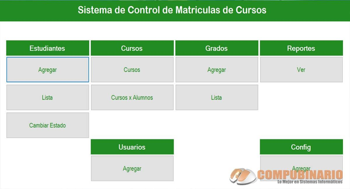 Sistema de Control de Matriculas de Cursos