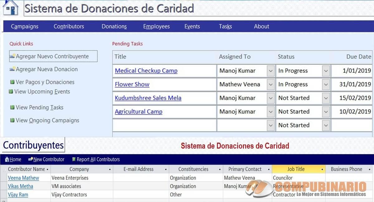 Sistema de Gestion de Donaciones de Caridad