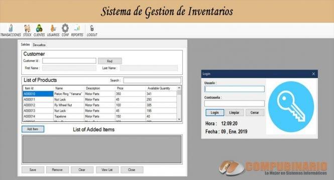 Sistema de Gestion de Entradas y Salidas de Productos