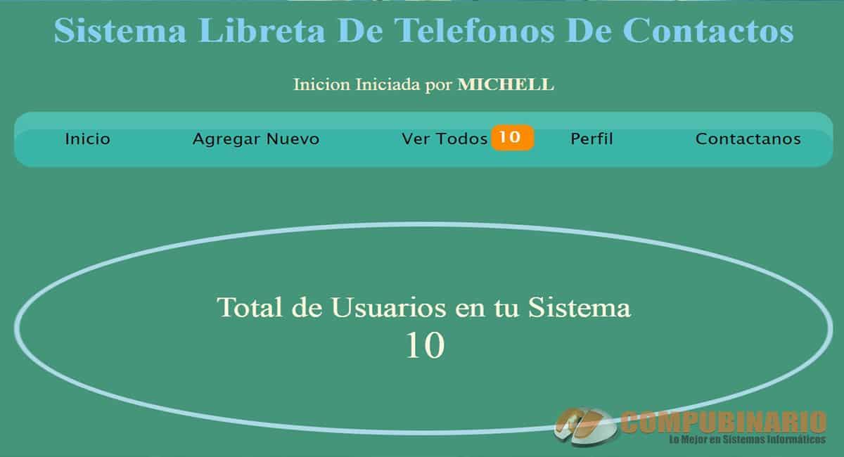 Sistema Libreta de Telefonos de Contactos