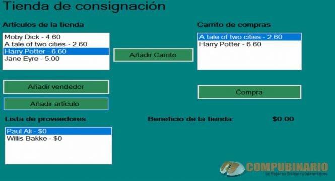 Sistema de Tienda de Consignacion