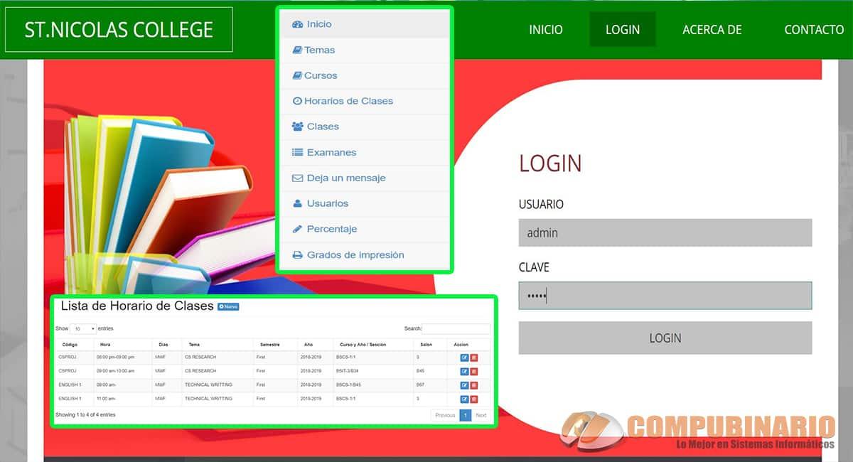 Sistema de registro de clase en línea