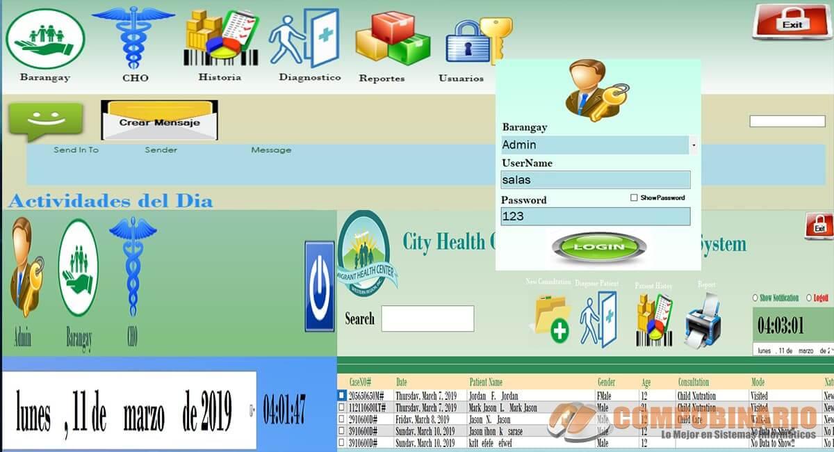 Sistema de Gestión y Control de Centro de Salud