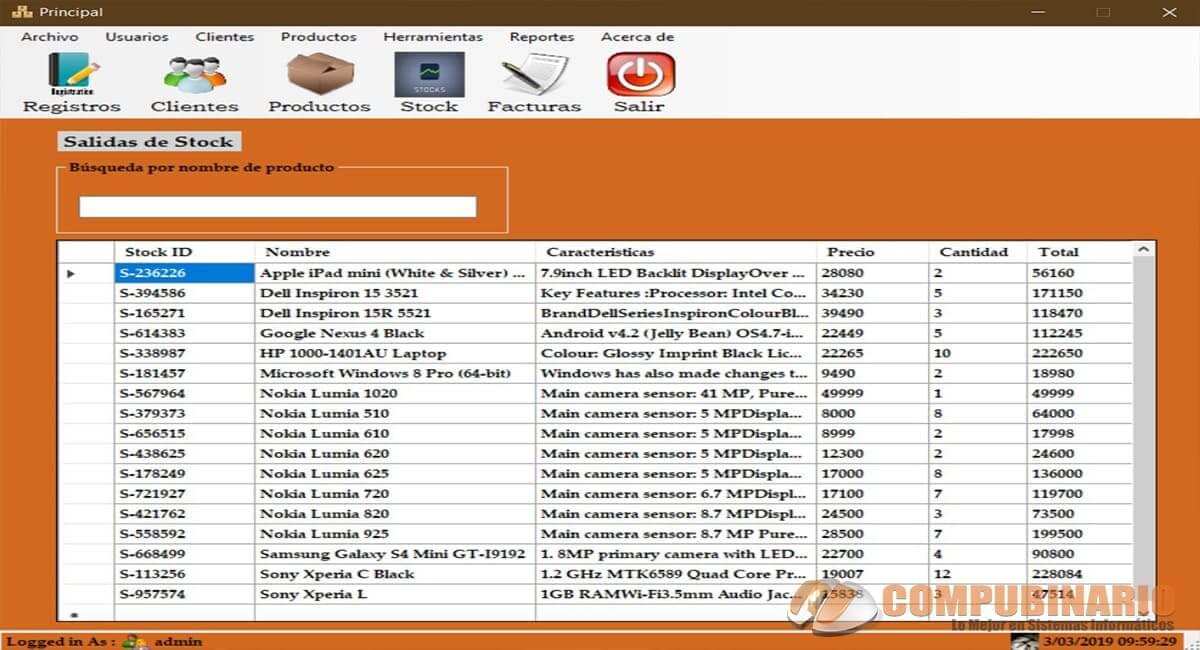 Sistema de Tienda de Ventas e Inventarios