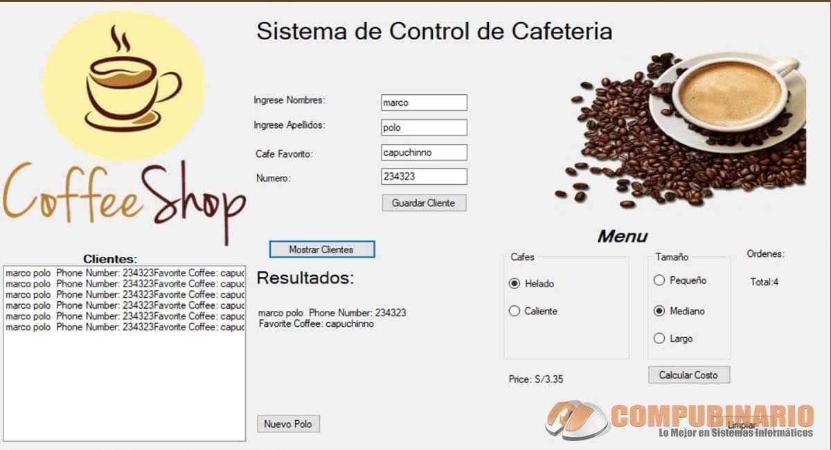 Sistema de Control de Cafetería