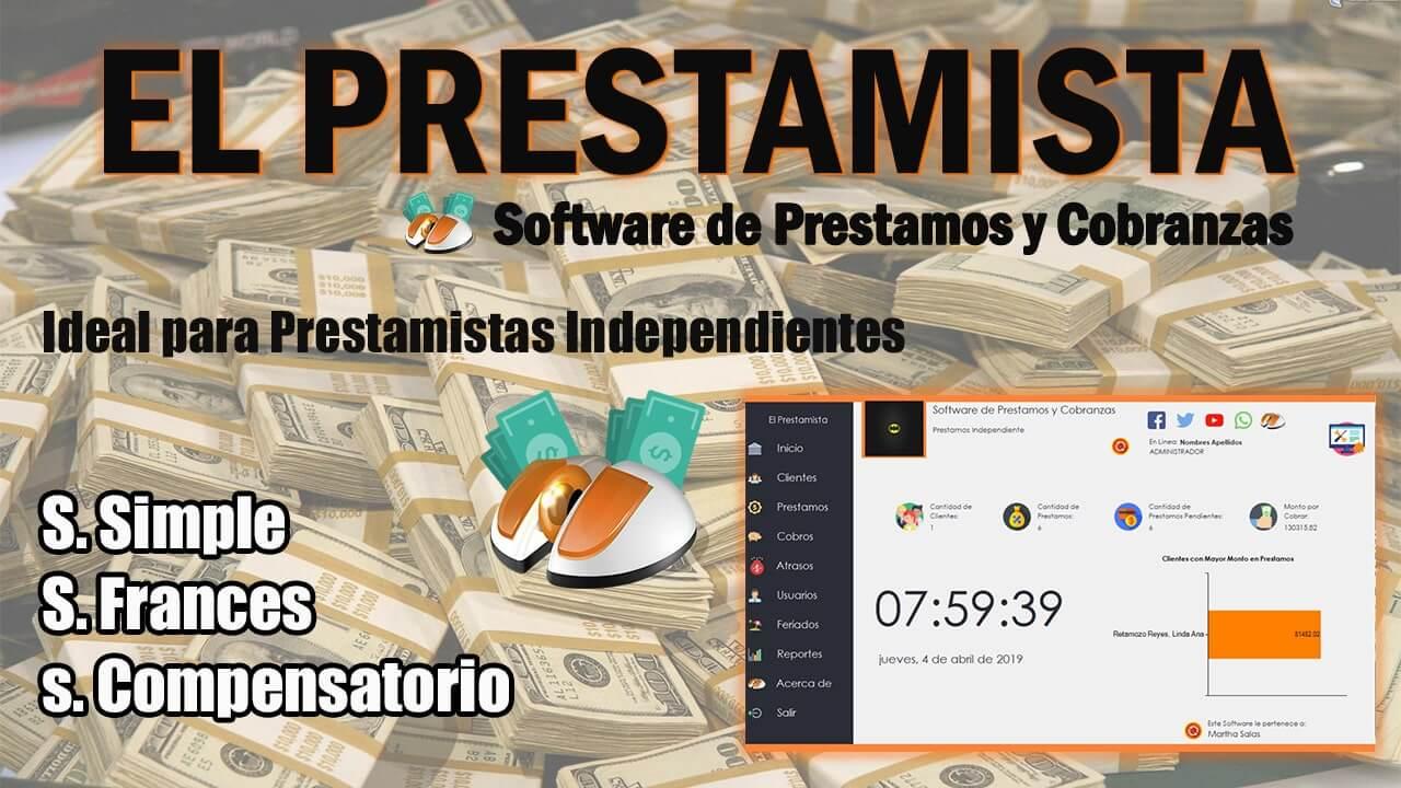 EL PRESTAMISTA - Software de Prestamos y Cobranzas