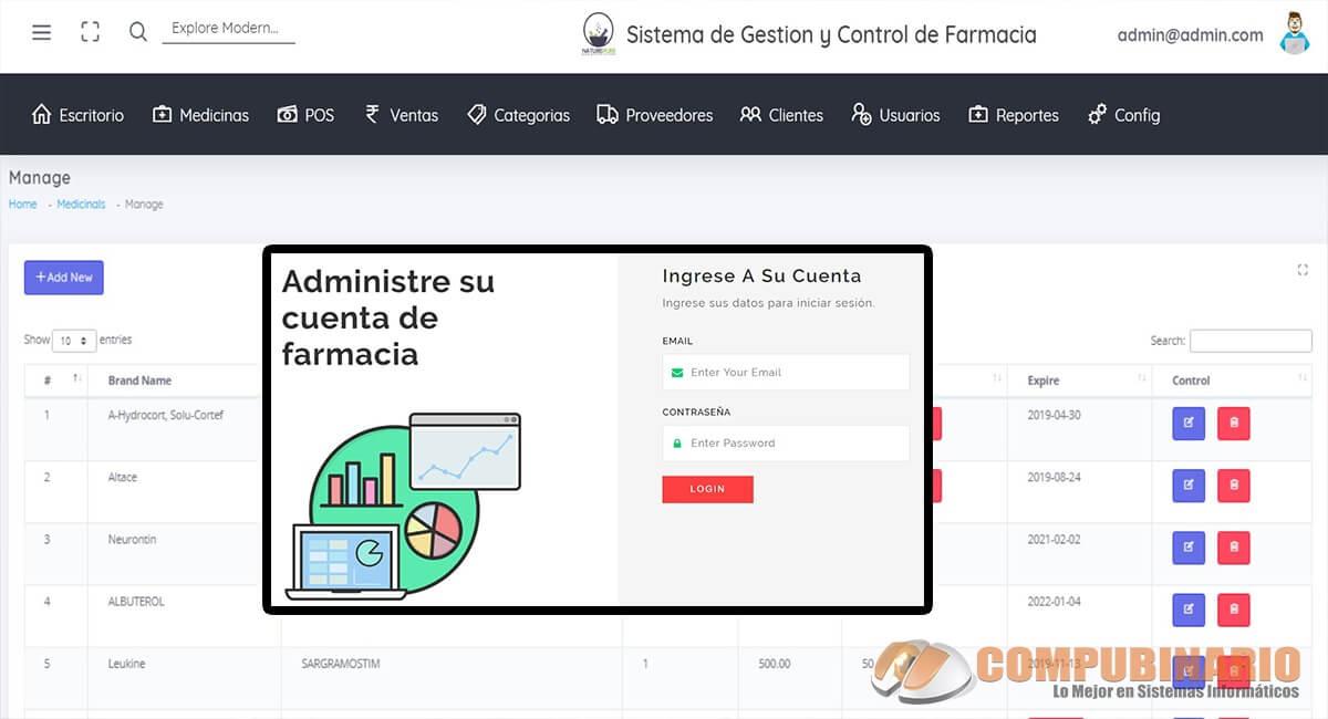 Sistema de Gestión y Control de Farmacia