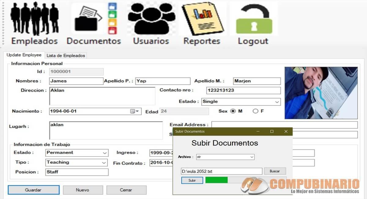 Sistema de Registros de Empleados