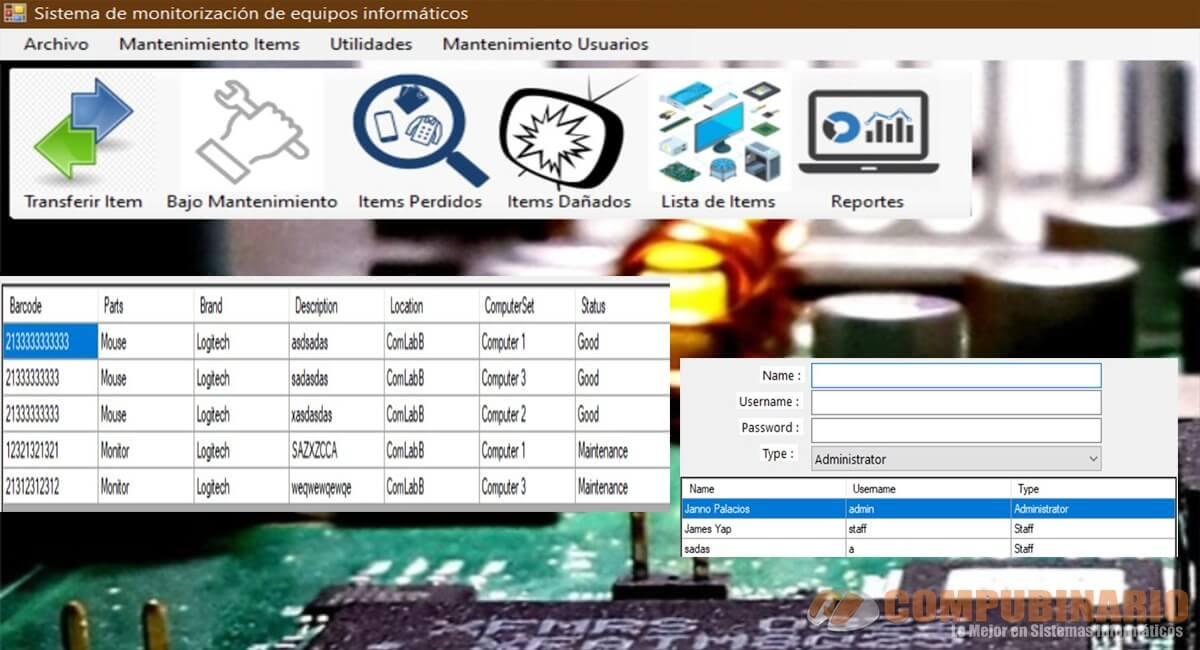 Sistema de monitoreo de laboratorio de computación