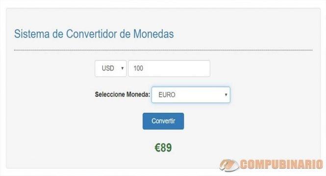 Sistema de Convertidor de Monedas