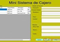 Sistema de Mini Cajero para Ventas
