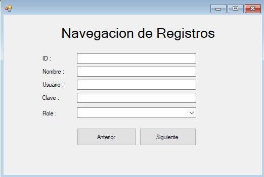 Navegación de Registros en C Sharp y MySQL - (Botones Siguiente y Anterior)