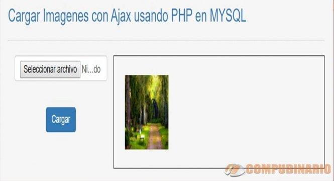 Cargar Imagenes con Ajax usando PHP en MYSQL