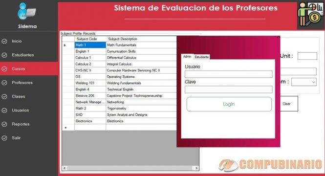 Sistema de Evaluacion de los Profesores