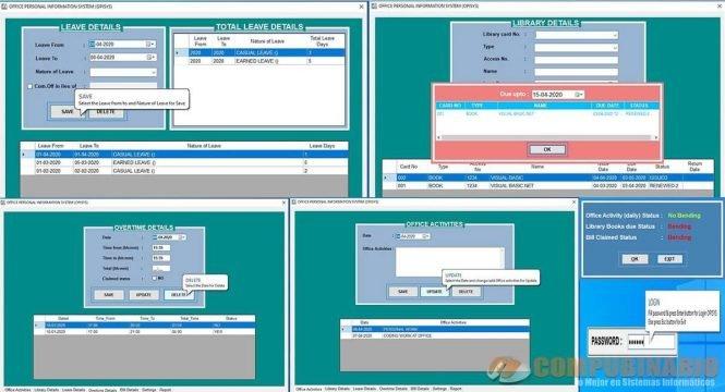 Sistema de Información Personal para Oficina