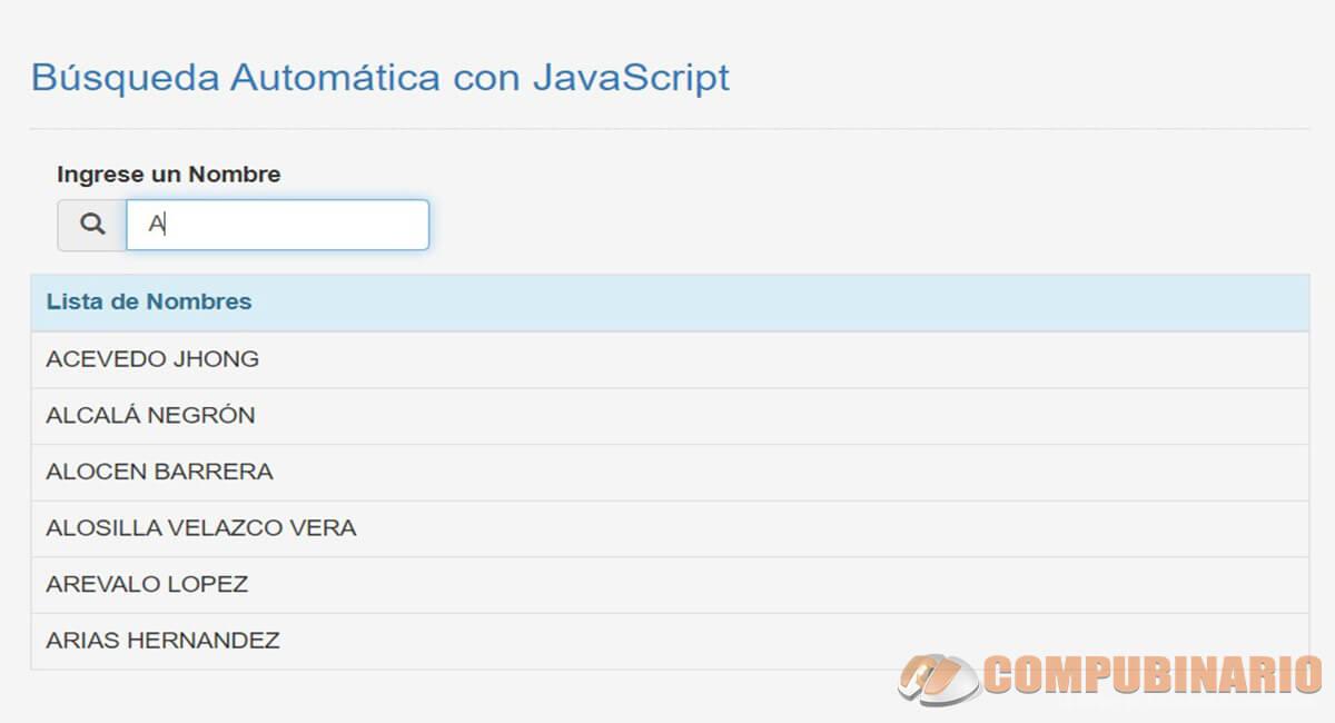 Búsqueda Automática con JavaScript