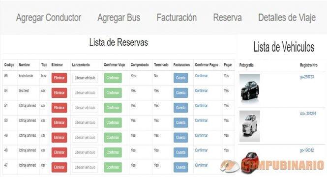 Sistema de Gestión de Vehículos para Viajes Turísticos