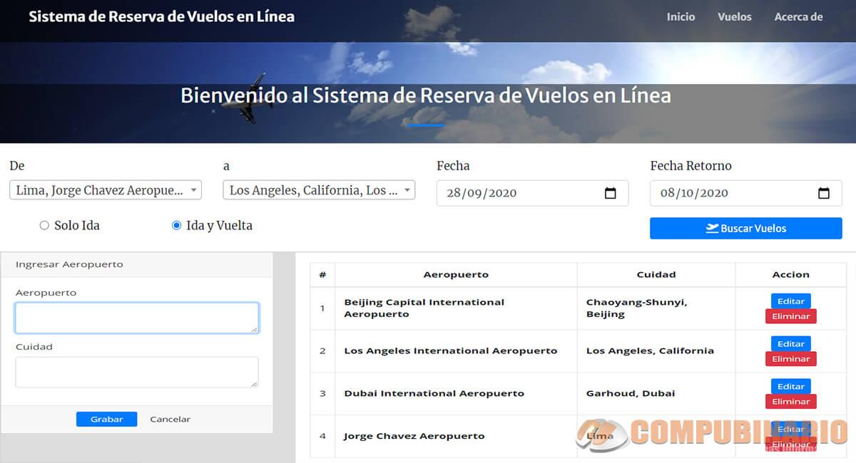 Sistema de Reserva de Vuelos en Línea