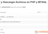 Subir y Descargar Archivos en PHP y MYSQL