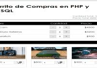 Crear un Carrito de Compras en PHP y MYSQL