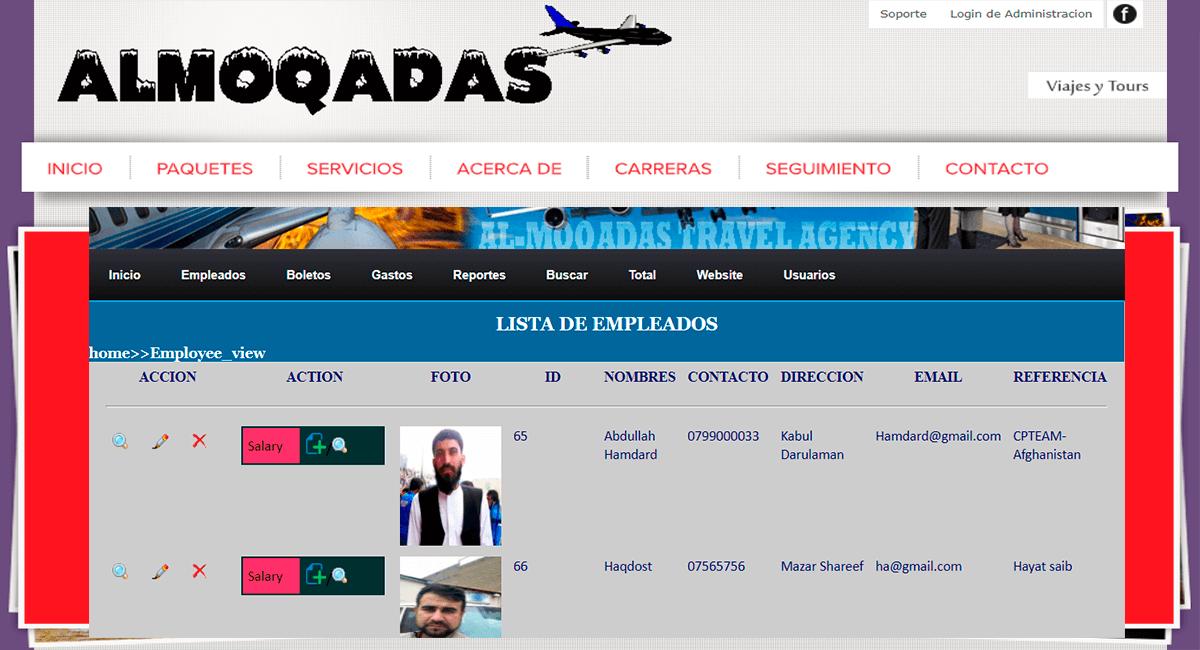 Sistema de Agencia de Viajes Web