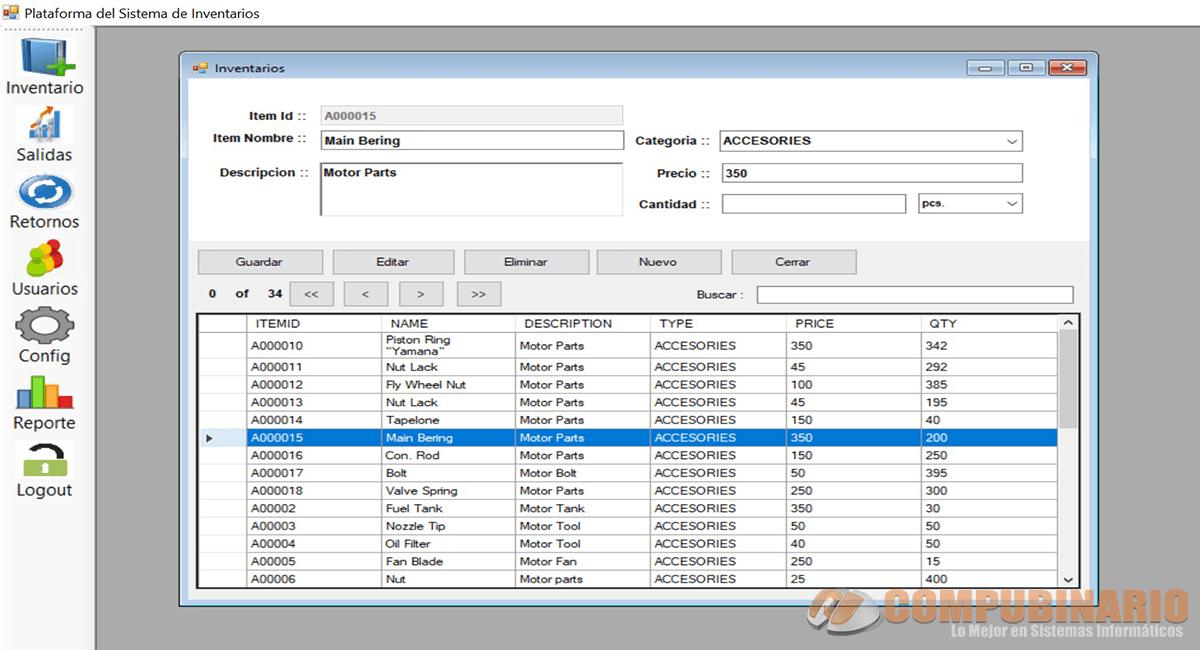 Sistema de Stock de Inventario