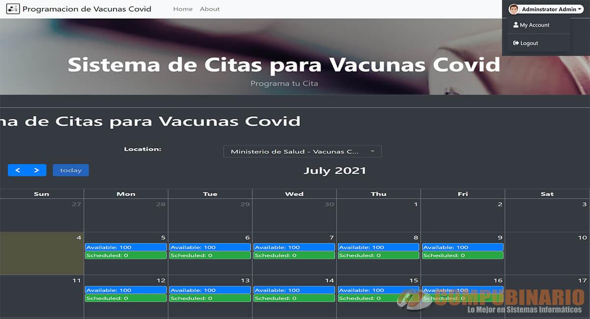Sistema de Citas para Vacunas Covid