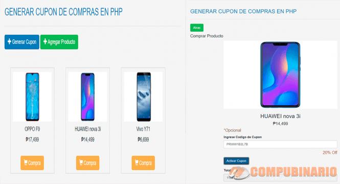 Generar Cupón para Compras en PHP y MYSQL